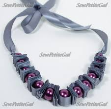 ribbon necklace making images Sewpetitegal new diy projects skirt and pearl ribbon necklace JPG