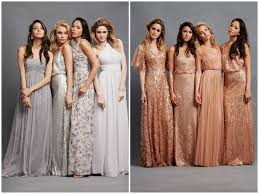 bridesmaid gowns chic bridesmaid dresses to mix and match