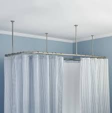 Ceiling Curtain Rods Ideas Tension Shower Curtain Rod Ceiling Mount Track Home Design Ideas L