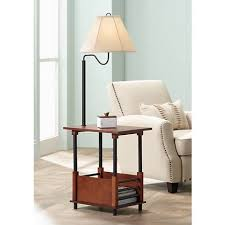 End Table Lamp Combo Marville Mission Style Swing Arm Floor Lamp With End Table