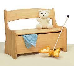 banc chambre enfant banc coffre à jouets en aulne massif ostheimer 5520512 chambre