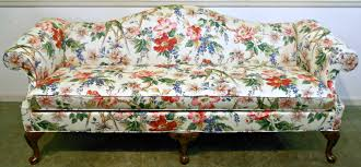 floral sofa furniture thomasville floral camelback sofa for your contemporary
