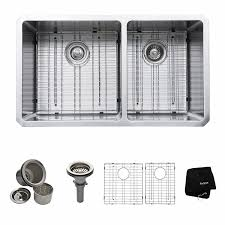 American Standard Stainless Steel Kitchen Sink by Kraus Khu103 33 33 Inch Undermount 60 40 Double Bowl 16 Gauge