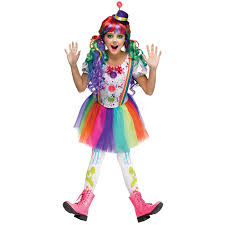 cowgirl halloween costume kids kids crazy color clown costume buycostumes com