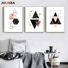 geometric home decor nordic style vintage geometric canvas art print painting poster