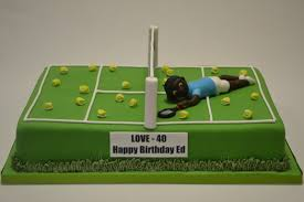 tennis cake toppers large tennis court cake with model celebration cakes cakeology