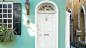 exterior design concept craftsman front door turquoise paint ideas