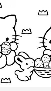 hello kitty easter coloring pages timykids