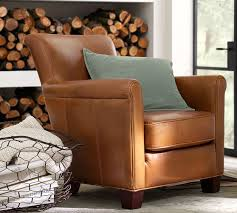 Leather Armchair Irving Leather Armchair Pottery Barn Elegant Furniture Design