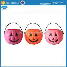 plastic halloween pumpkin buckets plastic halloween pumpkin