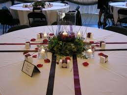 wedding reception tables bare tables no chargers plates cups silverware or napkins