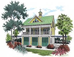 raised beach house plans coastal house plan with observation room 55126br architectural