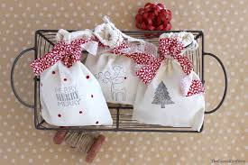 cloth gift bags diy sted christmas gift bags best 12 days of