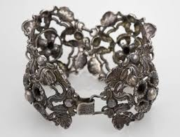 antique sterling silver bracelet images Antique sterling silver antique floral design bracelet 6 7 8 JPG