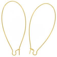 earing hook 22k gold plated earring hooks kidney wires 2 inch