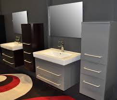 Bathroom Wall Mounted Sinks Bathroom Wall Mounted Sink In Grey With White Granite Sink Also