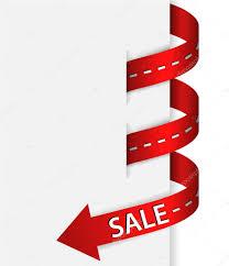 ribbon with word sale stock vector jonnydrake 72673789