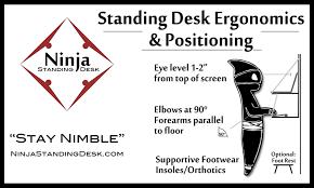 remarkable ergonomic standing desk setup latest cheap furniture
