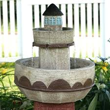 water fountain with lights light house water fountain fiberglass brick lighthouse water