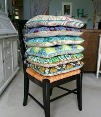 awesome and contemporary colorful six kitchen chair cushion covers