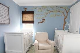 White Nursery Glider Little Boy Room Decor White Bed Traditional Boys Nursery Blue