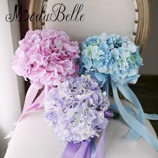 purple wedding bouquets modabelle cheap pink purple wedding bouquets hydrangea blue bridal