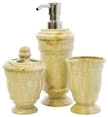 Bathroom Collections Sets Sahara Beige Marble 3 Piece Bathroom Accessory Set Of Tasmanian