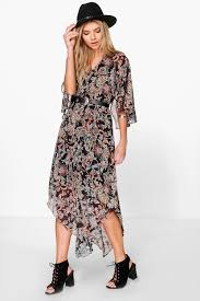 boo hoo clothing hayley hem paisley maxi dress boohoo