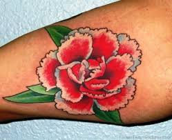 carnation flower tattoo designs pictures to pin on pinterest