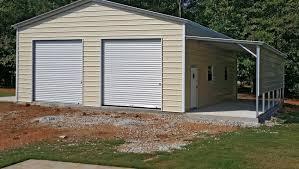 Garage With Carport Metal Garages U0026 Carports Protect Your Car From Sun Rain Hail And Ice