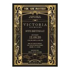 gatsby invitations great gatsby birthday invitation deco invite zazzle