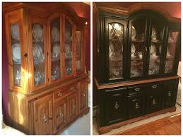 Kitchen Cabinet China Before And After Gel Stained China Cabinet Used Old Masters Gel