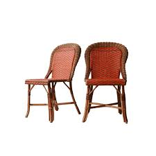 Esszimmerst Le Aus Rattan Französische Geflochtene Stühle 1960er 2er Set Bei Pamono Kaufen