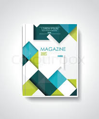 cover layout com magazine or brochure template design with cubes and arrows elements