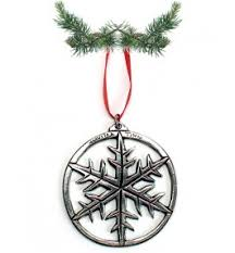 pewter snowflake ornament pewter tree ornaments