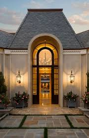 Curb Appeal Front Entrance - modern french home exterior french home exterior michael j