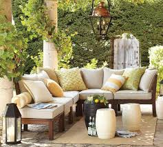 Pottery Barn Outdoor Rug Traditional Patio Design Ideas With Wooden Sectional Pottery Barn