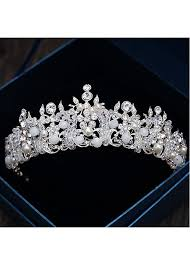wedding tiara buy discount in stock fabulous alloy wedding tiara with