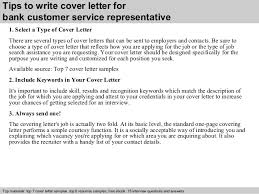 cover letter design bank customer service representative cover