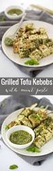 Easy Main Dish - grilled tofu kebobs with mint pesto delish knowledge