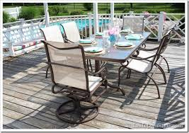 Iron Table And Chairs Patio How To Paint Outdoor Furniture With Sling Seats Inmyownstyle