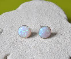 opal earrings stud australian opal stud earrings in sterling silver jewelry by