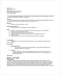 Office Manager Resume Sample by Sample Office Manager Resume 8 Examples In Word Pdf