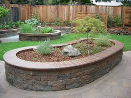 Retaining Wall Garden Bed by Raised Beds Concrete Pavers Container Gardening Pinterest