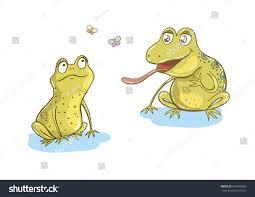 two cute frogs fallen love funny stock vector 697695895 shutterstock