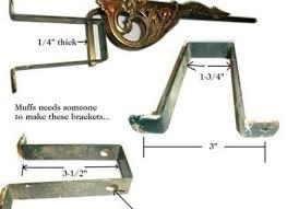 Drapery Rod Parts Swing Arm Curtain Rod Restoration Hardware Eyelet Curtain