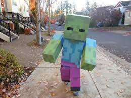 Minecraft Halloween Costume Josh Dickerson Uploaded This Image To U0027minecraft Zombie U0027 See The