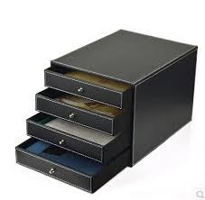 rangement classeur bureau 4 tiroirs bois structure en cuir contenant bureau classeur bureau