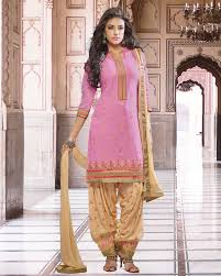 palkhi inc patiala suit in turquoise and dark pink combination