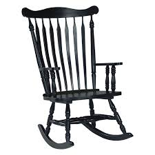 Black Rocking Chair For Nursery Interior Rocking Chairs Outdoor Porches Compact Chair Concept